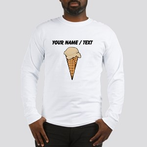 Custom One Scoop Ice Cream Cone Long Sleeve T-Shir
