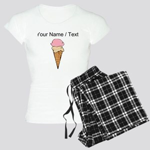 Custom Two Scoop Ice Cream Cone pajamas