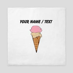 Custom Two Scoop Ice Cream Cone Queen Duvet