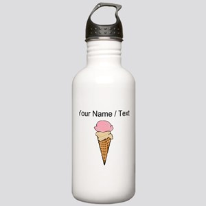 Custom Two Scoop Ice Cream Cone Sports Water Bottl