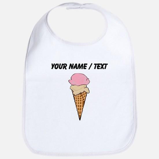 Custom Two Scoop Ice Cream Cone Bib