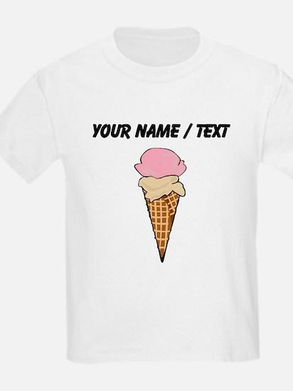 Custom Two Scoop Ice Cream Cone T-Shirt