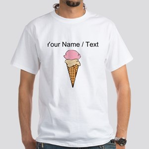 Custom Two Scoop Ice Cream Cone T-Shirt