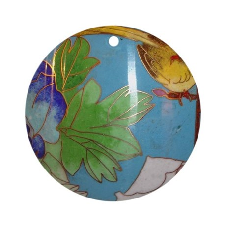 cloisonn art deco bird round ornament by listing store 116139715. Black Bedroom Furniture Sets. Home Design Ideas