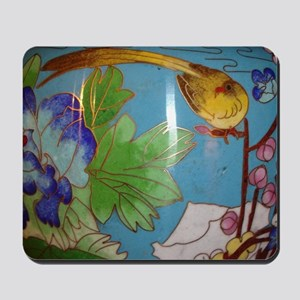 Cloisonné Art Deco Bird Mousepad