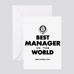 The Best in the World Best Manager Greeting Cards