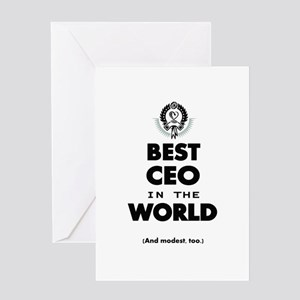 The Best in the World Best CEO Greeting Cards