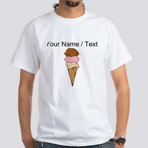 Custom Three Scoop Ice Cream Cone T-Shirt