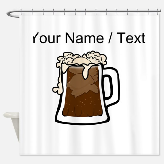 Custom Root Beer Float Shower Curtain