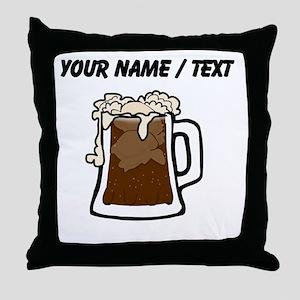 Custom Root Beer Float Throw Pillow