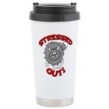 FIN-stressed-out-cat Stainless Steel Travel Mu