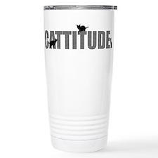 FIN-cattitude-text Stainless Steel Travel Mug