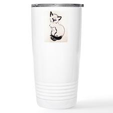 Siamese Cat Art Stainless Steel Travel Mug