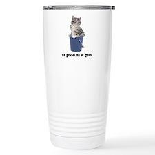 FIN-tabby-gray-good Stainless Steel Travel Mug