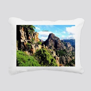 Corsican landscape Rectangular Canvas Pillow
