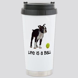 Boston Terrier Life Stainless Steel Travel Mug