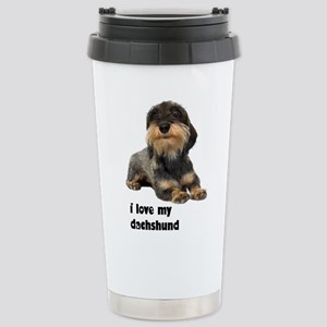 FIN-wirehaired-dachshund-love Stainless Steel
