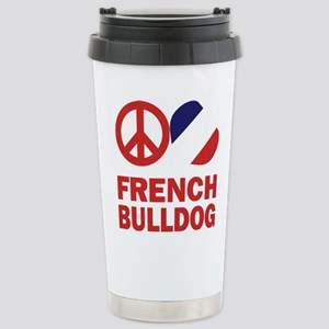FIN-peace-love-french-bulldog-FLAG Stainless S