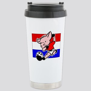 croatia-soccer-pig Stainless Steel Travel Mug