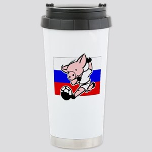 russia-soccer-pig Stainless Steel Travel Mug