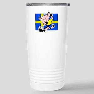 sweden-soccer-pig Stainless Steel Travel Mug