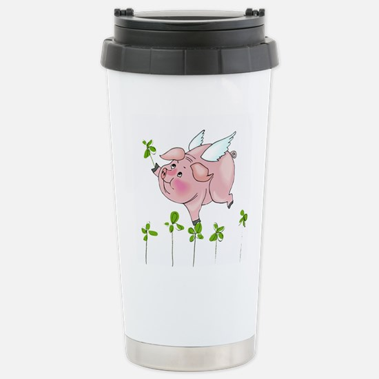 Pig In Clover Stainless Steel Travel Mug