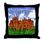 Compton In The Hole Drawing Throw Pillow