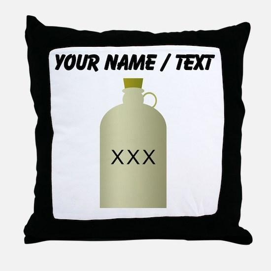 Custom Moonshine Jug Throw Pillow