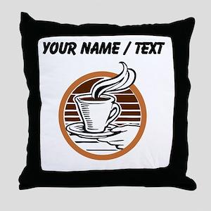 Custom Coffee Icon Throw Pillow