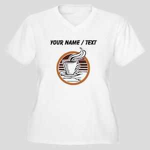 Custom Coffee Icon Plus Size T-Shirt