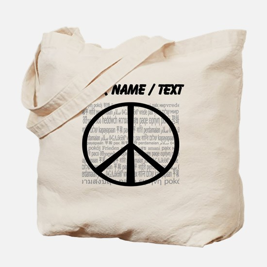 Custom World Peace Tote Bag