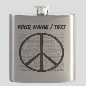 Custom World Peace Flask