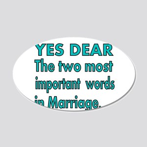 Yes Dear. The Two most important words in Marriage