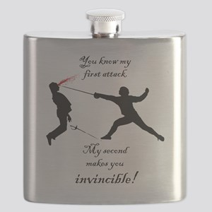 Nevers Attack Quote Flask
