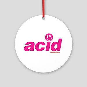 Pink Acid Ornament (Round)