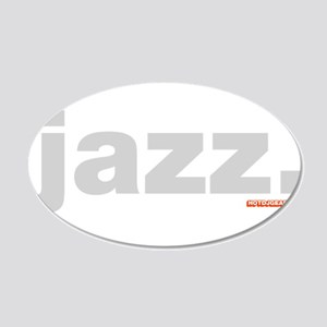Jazz. 20x12 Oval Wall Decal