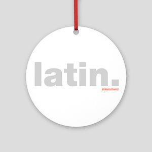 Latin. Ornament (Round)