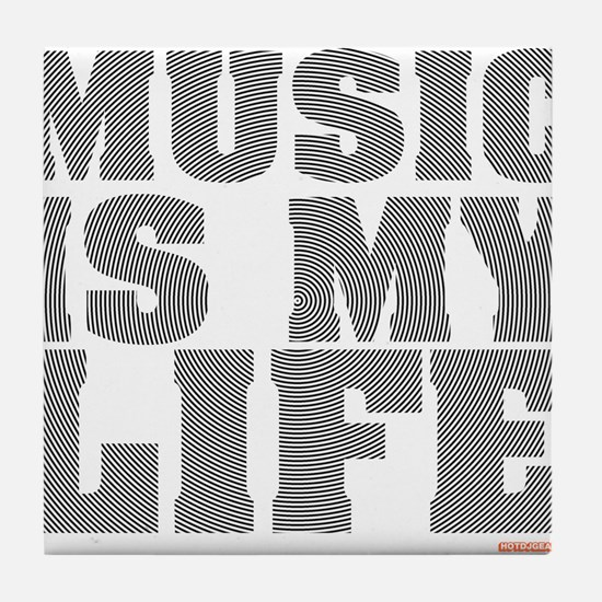 Music Is My Life Vinyl Tile Coaster