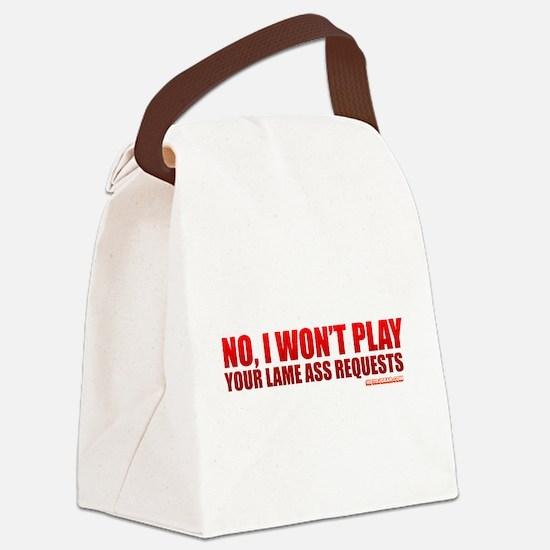 Unique Dj humor Canvas Lunch Bag