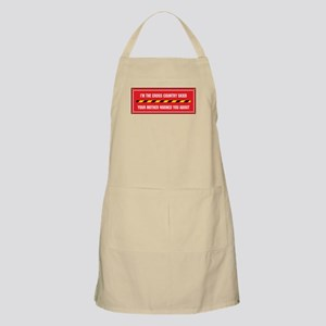 I'm the Cross Country Skier BBQ Apron