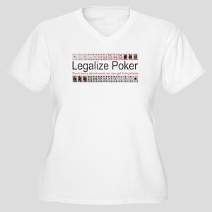 Legalize Poker Women's Plus Size V-Neck T-Shirt