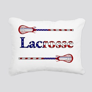 Lacrosse Stars and Stripes Rectangular Canvas Pill