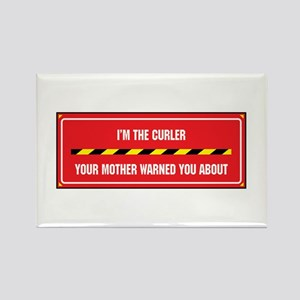 I'm the Curler Rectangle Magnet