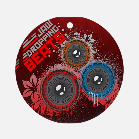 Jaw Dropping Beats Ornament (Round)