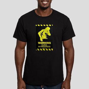 DJing In Progress Men's Fitted T-Shirt (dark)