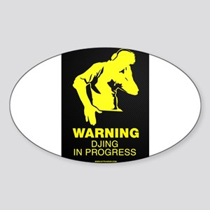 DJing In Progress Sticker (Oval)