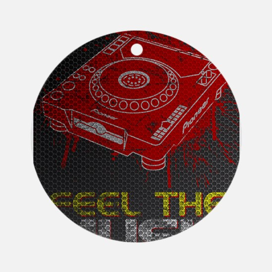 Pioneer CDJ Feel The Music Ornament (Round)
