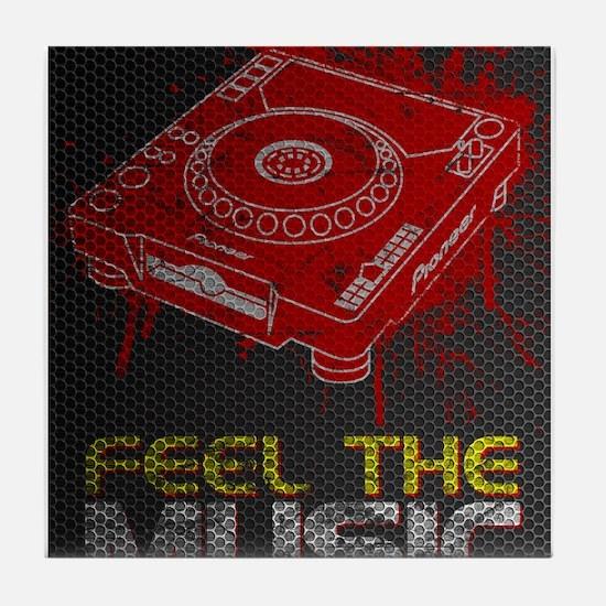 Pioneer CDJ Feel The Music Tile Coaster