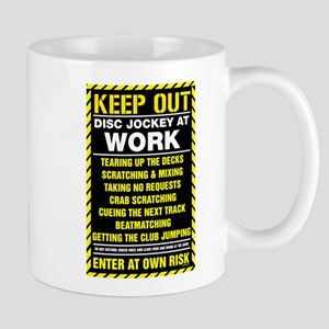 Disc Jockey At Work Mug