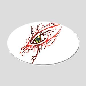 Cyber Eye 20x12 Oval Wall Decal